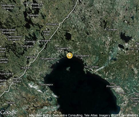 map: Ladoga Lake, tourism