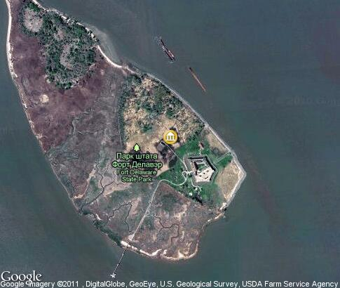 map: Living history museum, Pea Patch Island