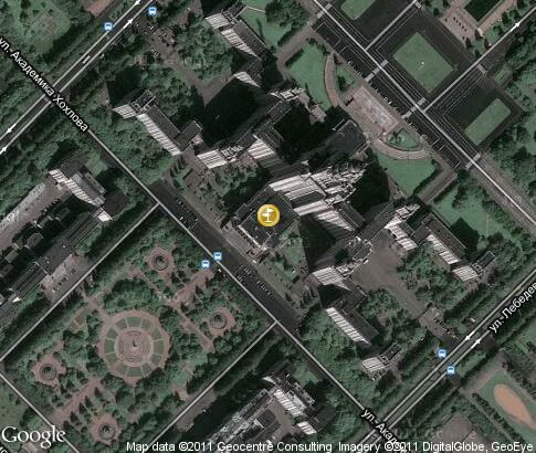 map: Main building of Moscow State University