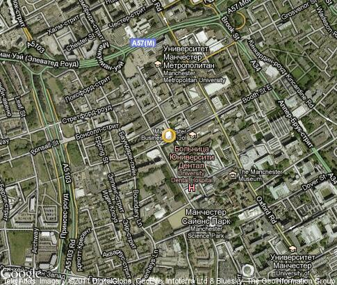 map: Manchester Business School