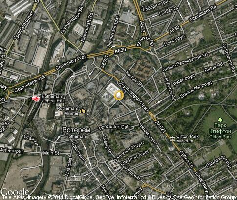 map: Rotherham College of Arts and Technology