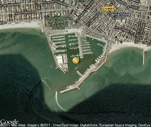 map: Santa Pola, Seaport