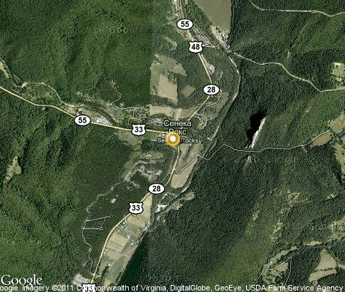 map: Seneca Rocks