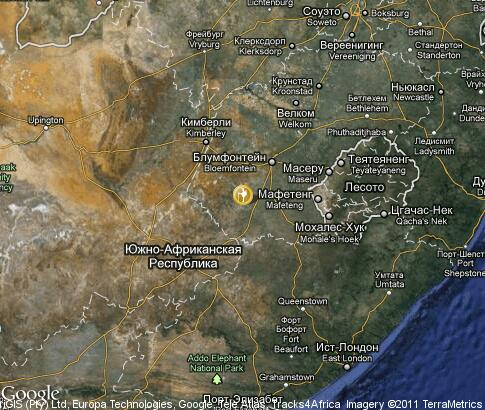 map: South Africa, tourism