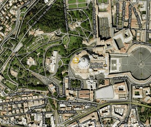 map: St. Peter's Basilica