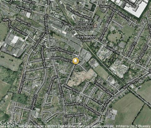 map: Stephenson College Coalville