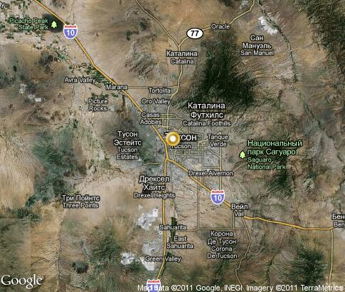 map: Tucson, Arizona