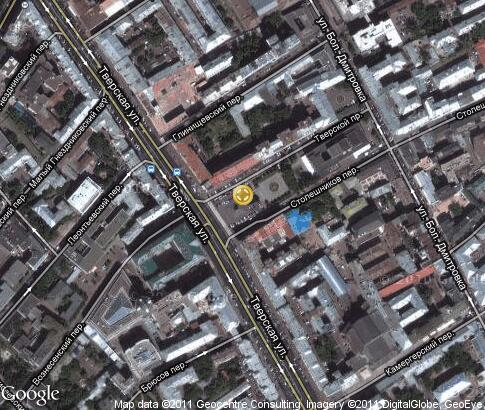 map: Tverskaya Square