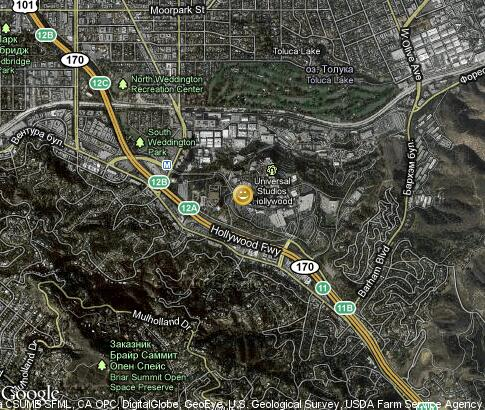 map: Universal Studios Hollywood