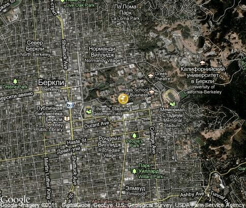 map: University of California, Berkeley