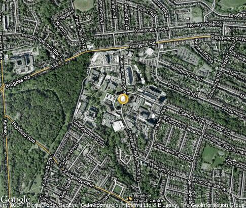 map: University of Southampton