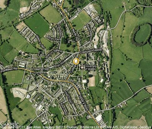 map: University of Wales - Lampeter