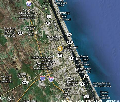 daytona beach map. map: Daytona Beach