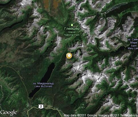map: Glacier National Park