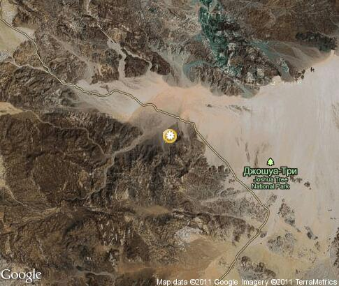 map: Joshua Tree National Park
