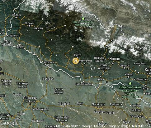 map: Nepal, biking